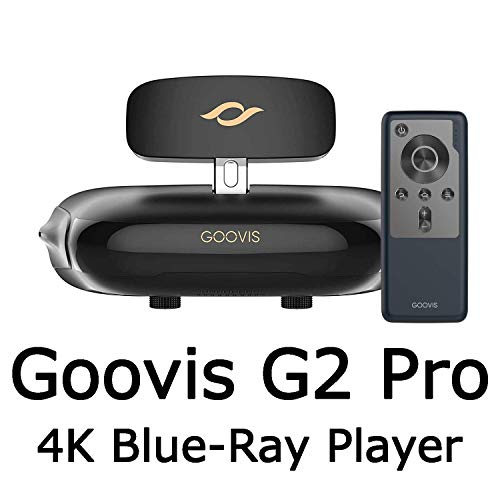 GOOVIS Pro VR Headset 3D Theater Goggles,3D Viewer Support blu-ray Player Sony 1920x1080x2 HD Screen 4K VR Glasses FPV Compatible with Set-top Box DJI Drones PS4 Xbox PC Nintendo Smart Phone
