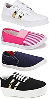 Shoefly Women's (993-11023-619-1044) Multicolor Casual Sports Running (Set of 4 Pair)