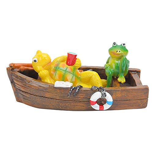 Mooie hars huistuin vijver met en beweegbare schildpadden en kikker decoraties aquarium versiering handwerk MEERWEG OPKING