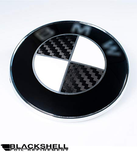 BLACKSHELL Emblem Aufkleber - 74 tlg. Set für alle Embleme am Auto in 5D Carbon Schwarz