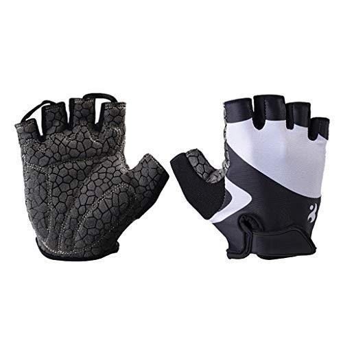Handschuh Fitness-Handschuhe, Männer Und Frauen Ausrüstung Sport Training Rudern Half Finger Hantel (größe : S)