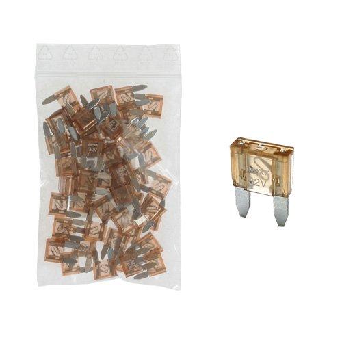 50 Flachstecksicherung Mini-Sicherung 5A / 32V / natur