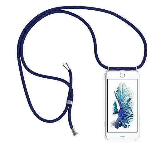 YuhooTech Collier pour iPhone 6 Plus Coque, étui de téléphone avec Cordon - Tour de Cou Lanière en Corde - Housse pour Smartphone Lanyard Case Holder - Cover Necklace Bandouilière Stylée