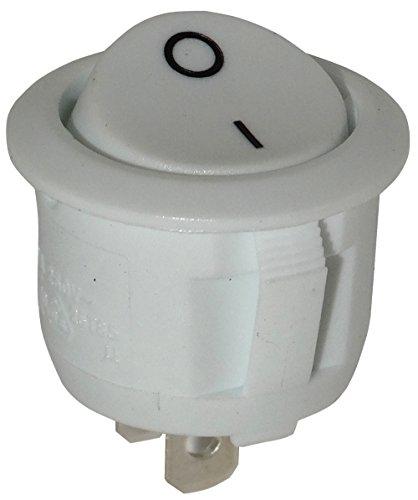 AERZETIX: Interruptor conmutador basculantes de boton SPST ON-OFF 6A/250V 20A/12V, 2 posiciones, Blanco C10773
