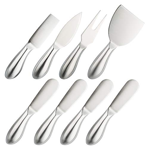 8 Pieces Cheese Tool Set, findTop Stainless Steel Cheese Knives Collection