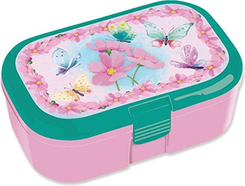 Fiambrera de colores para niños, 10666, perfecta para los fans de las mariposas, fiambrera, almuerzo, escuela, escuela primaria