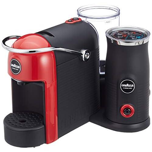 Lavazza A Modo Mio Jolie&Milk Red Macchina per caffè, Griglia poggia Tazza ABS, Rosso