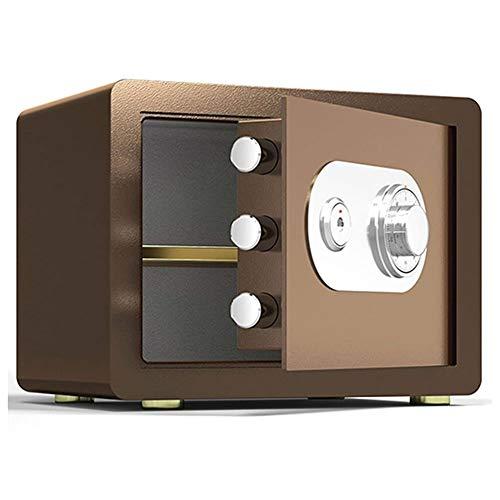 Tresore-SYY Kleine Safes, Feuerfester Stahlschrank, Hotel- / Firmenbüro, Mechanisches Passwort, 4 Farben, 25 Cm / 30 Cm (Color : Brown, Size : 30cm)