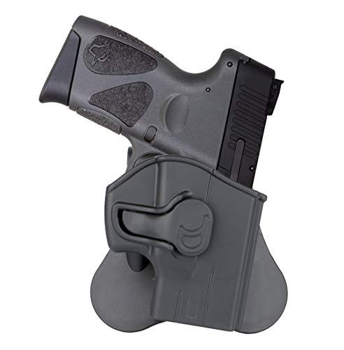 Taurus G3 G2c Holster, OWB Paddle Holsters Fits Taurus PT111 Millennium G2, G2C, G3, PT132, PT138, PT140, PT745, Polymer Outside Waistband Gun Holster, Tactical Holster, 360° Adjustable - Right Handed