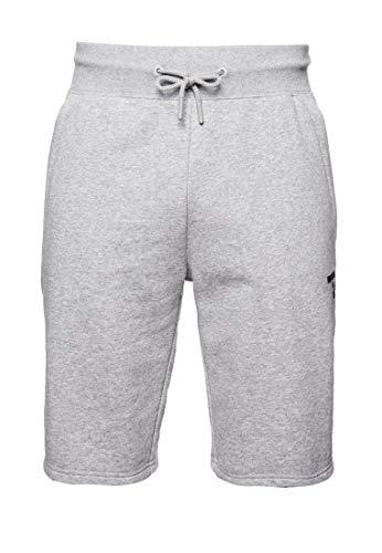 Superdry Herren Training CORE Sport Shorts, grau, M