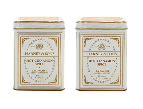 Harney amp Sons Classic Hot Cinnamon Spice Tea 20 Tea Sachets 14 oz Pack of 2