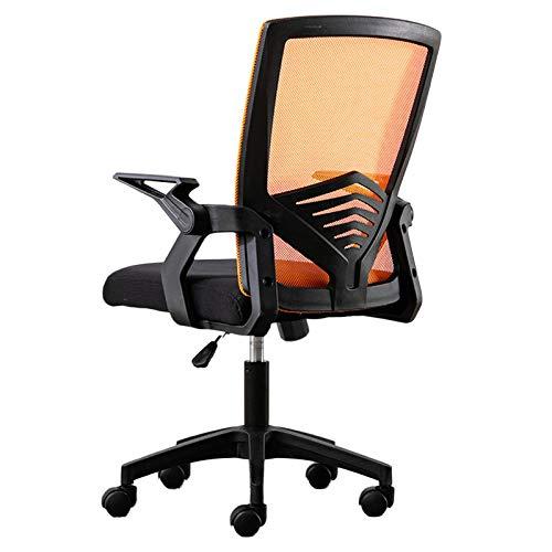 Bürostuhl, Ergonomisch Schreibtischstuhl, Mesh Computerstuhl Mit Einstellbare Armlehnen, Höhenverstellung, Tragkraft Bis 150Kg,Orange