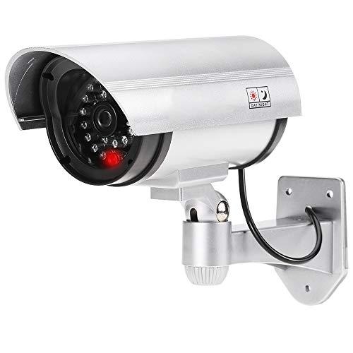Sampton Security CCTV False Outdoor Camera Fake Dummy Security Camera Waterproof IR Wireless Blinking Flashing Dummy Camera for Home,Shop, Warehouse.
