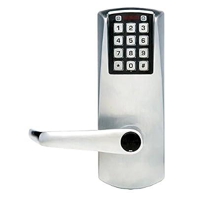 """Kaba E-Plex Electronic Keyless Lock, Kaba Cylinder (Schlage """"C"""" Keyway) Included, Satin Chrome Finish"""