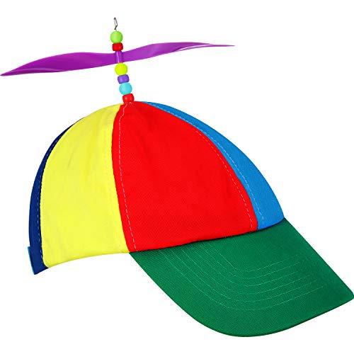 Syhood Propeller Hut Hubschrauber Klown Hut Regenbogen Beanie Hut Bunte Kostüm Partyhut Unisex