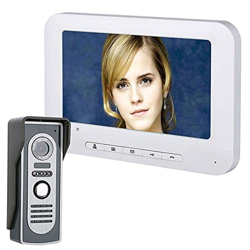 LYLY Sistema de timbre de 7 pulgadas con cable de videoportero para puerta, 700TVL IR visión nocturna cámara al aire libre para el hogar oficina hotel (tamaño : B)