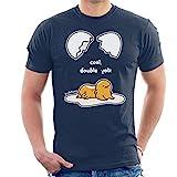 gudetama Cool Double Yolk Men's T-Shirt Navy Blue