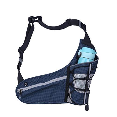 Sport Hüfttasche Kettle Taschen-Riemen-Brust-Schulter-Beutel-Flaschen-Halter-Beutel Mit Verstellbaren Riemen Für Den Außenbereich Workout Reisen Beiläufige Laufende Dunkle Farbe Blau
