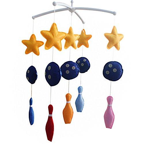 Décoration de pépinière de cadeau de jouet mobile de lit de bébé fait main pour 0-2 ans, MQ26