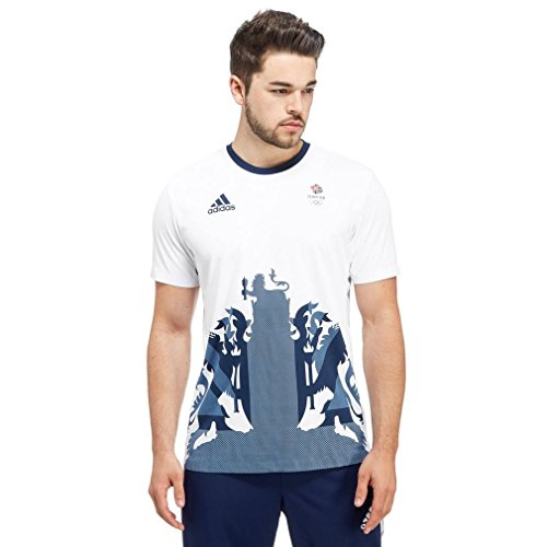 adidas Team GB 2016 Climachill Men's T-Shirt, White, XXL