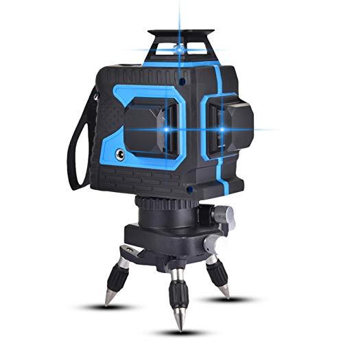 Bettying Kreuzlinienlaser 3D Beam-Selbstnivellierlaser 12 Laserlinie 3x360 Horizontales Und Vertikales Kreuz Superstarke Laserstrahllinie - Multi-Use-Selbstnivellierungs-Laser-Level