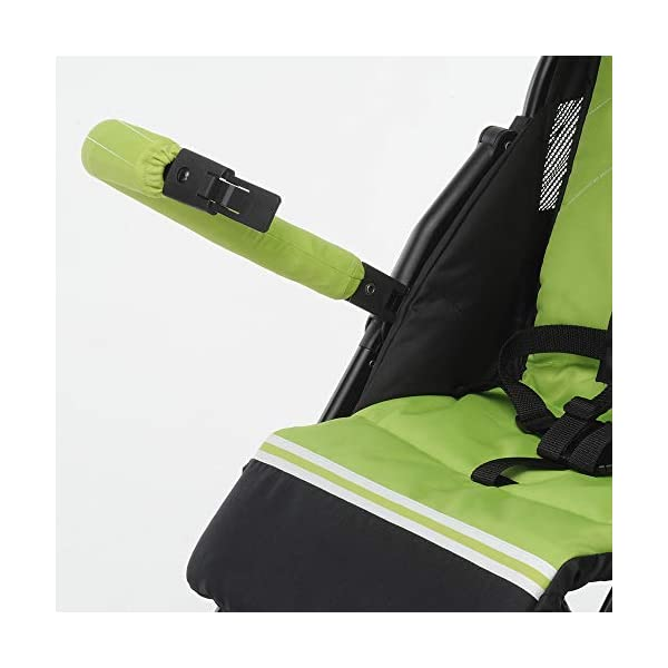 Foppapedretti Piùleggera Pushchair Sport Green Foppapedretti Lightweight stroller, suitable from birth, weighs only 3.6 kg - weight without accessories It is equipped with footrest and removable extendable hood with UPF 50+ sun protection (UV protection with 98% protection). Aluminium frame, folds flat for easy storage 6