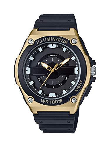 Casio Men's Quartz Watch with Resin Strap, Black, 18.5 (Model: MWC-100H-9AVCF)