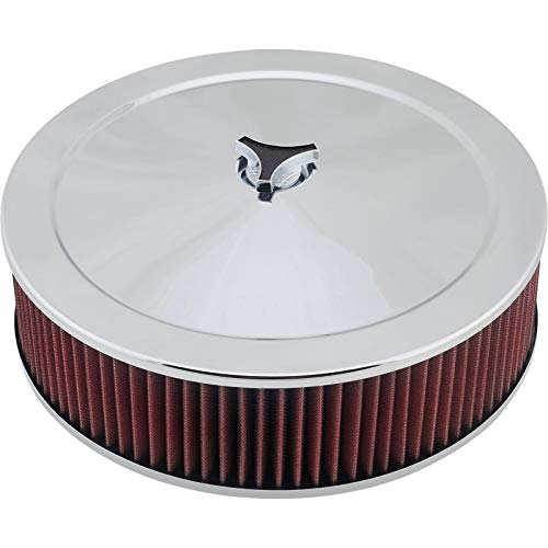 Chrome Air Cleaner w/Washable Filter, 14 x 4 Inch