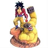 Missyou Dragon Ball Z Super Saiyan 4 Son Goku Gold Great Apes Scene Statue Resin Figure DBZ Action Figures Modello da Collezione Toy(33Cm + Confezione