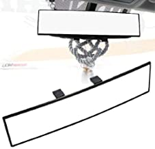 iJDMTOY Universal Fit JDM 300mm 12-Inch Wide Curve Clip On Rear View Mirror For Car SUV Van Truck, etc