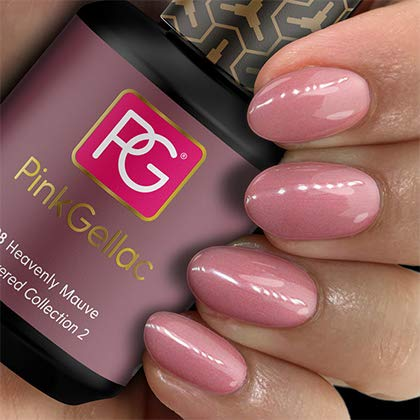 Pink Gellac 198 Heavenly Mauve UV Nagellack. Professionelle Gel Nagellack shellac für mindestens 14 Tage perfekt glänzende Nägel