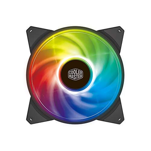 Cooler Master MasterFan MF140R ARGB 140 mm - Gehäuselüfter, adressierbare RGB-Beleuchtung, Hybrid-Lüfterblattdesign mit Luftbalance, intelligente Lüftersensoren - 140 mm
