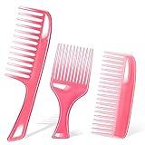 Roshtia 3 Pieces Wide Teeth Comb No Handle Detangler...