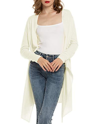 Cardigan Mujer Verano Camisa Blusa Manga Larga Mujer Cárdigan Largo Playa Camisetas de Fiesta Blusas Largas Chal Flojo Chaqueta Punto Cardigans Mujer Primavera Verano