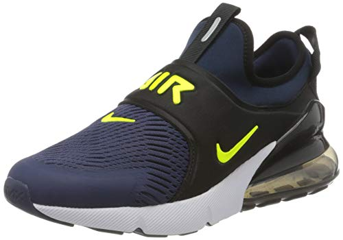 Nike Air MAX 270 Extreme (GS), Zapatillas para Correr, Midnight Navy Lemon Venom Black Anthracite, 38 EU