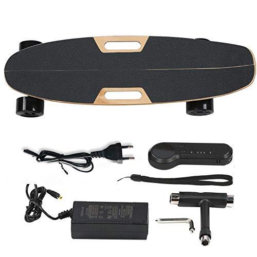 Alomejor1 Elektro-Skateboard Vierrad-Fernbedienungs-Skateboard Hochleistungs-Elektro-Longboard-Elektro-Skateboard mit Zwei Antrieben(110-240V EU)