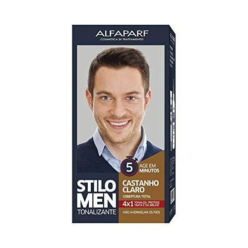 Kit Tonalizante Alfaparf Stilo Men Castanho Claro