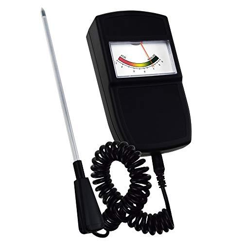 Probadores de la tierra Tipo de puntero El pH del suelo del sensor del probador del metro con sonda desmontable, Jardinería Kits de vigilancia de la calidad del instrumento de medida de la acidez