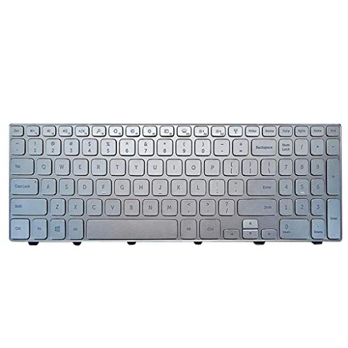 Gazechimp Laptop-Tastatur mit Kleiner Eingabetaste und Backlight für Dell Inspiron 15-7000/7537 (US-Englisch)