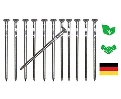 Gardemics Aluminium Nägel für Nistkästen & Futterhäuser - Perfekt für eine baumfreundliche und ungefährlicher Befestigung - Inkl. Gratis E-Book - 12 Stück 4,5x80 mm