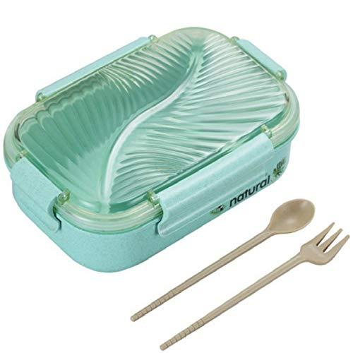 LINGNING - Fiambrera para horno de microondas, 750 ml, con cuchara y tenedor, material sano, a...