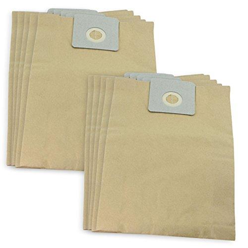 SPARES2GO Cleanfix starke Papier-Staubsaugerbeutel für Staubsauger, 10 Stück (Auto, 20 Stück 10 Bags