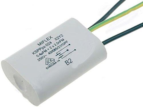 Miflex X2 Kondensator Entstörkondensator KSPPPpz-024 0,4uF 2x 2,5nF