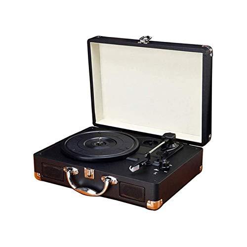 SQQSLZY LP Vinyl Record Player Portátil Pequeño Antiguo Retro Bluetooth Audio Portáfico...