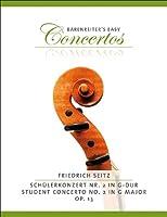 ザイツ : 学生のための協奏曲 第2番 ト長調 Op.13/ベーレンライター社ピアノ伴奏付バイオリン・ソロ楽譜