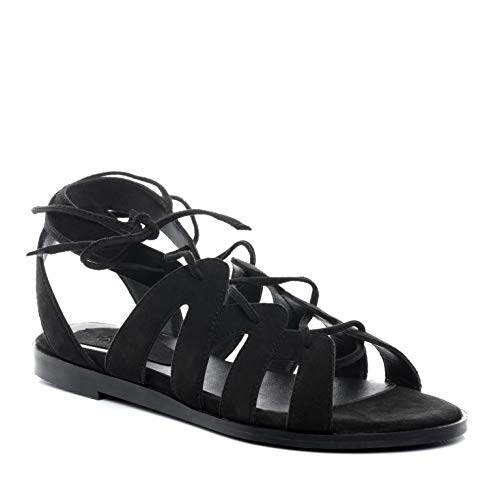 BACCINI sandale cuir RAJA 39 EU nu-pieds claquette noir