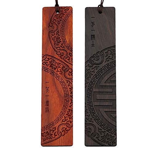 bobotron Marcapáginas de bronce natural con motivos chinos antiguos, regalo para profesores, estudiantes, mujeres, vvter, MMNner.