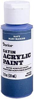 Darice Satin Navy, 2 Ounces Acrylic Paint,