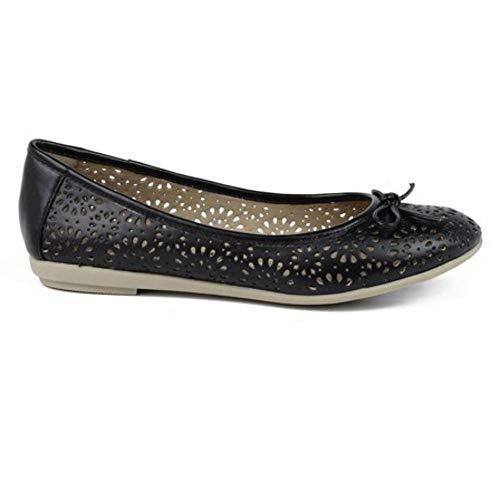 Xti 46609 Zapato Bailarina Mujer, calados, Adorno Lazo