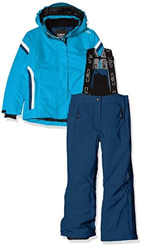CMP Feel Warm Flat, Set Giacca E Pantaloni Bambine e Ragazze, Blu Jewel, 116
